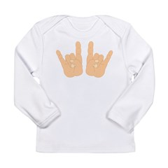 Rock & Roll Hands Long Sleeve Infant T-Shirt