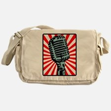 Retro Microphone Messenger Bag