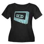 Blue Cassette Tape Women's Plus Size T-Shirt
