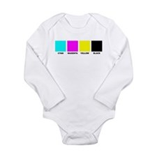 CMYK Four Color Long Sleeve Infant Bodysuit
