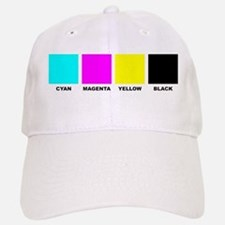 CMYK Four Color Baseball Baseball Cap