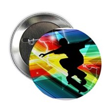 "Skateboarder in Criss Cross L 2.25"" Button"