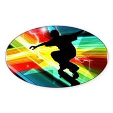 Skateboarder in Criss Cross L Decal