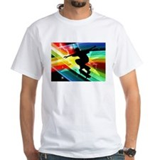 Skateboarder in Criss Cross L Shirt