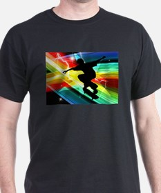 Skateboarder in Criss Cross L T-Shirt