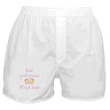 Proud Great Grandma Girls Boxer Shorts