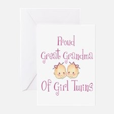 Proud Great Grandma Girls Greeting Cards (Package