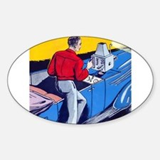 Inventions Oval Decal