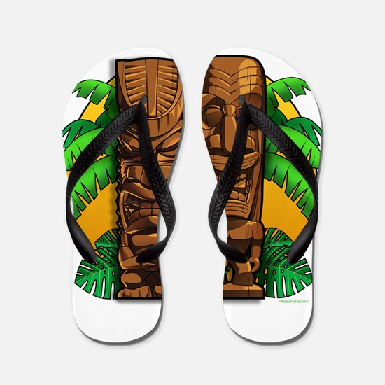 Tiki Idols Flip Flops