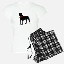 Rottweiler Silhouette Pajamas