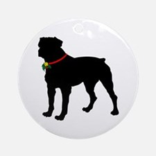 Rottweiler Silhouette Ornament (Round)