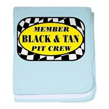 Black and Tan PIT CREW baby blanket