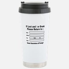 If Lost and / or Drunk Travel Mug