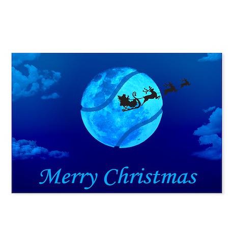 Santa Moon Christmas Postcards (Package of 8)