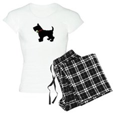 Scottish Terrier Silhouette Pajamas