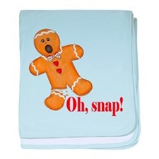 Oh Snap! Gingerbread Man baby blanket