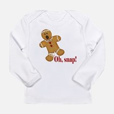 Oh Snap! Gingerbread Man Long Sleeve Infant T-Shir