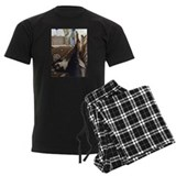 Border collie Men's Dark Pajamas