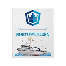 Crest & Boat Throw Blanket
