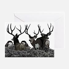 Monster buck deer Greeting Card