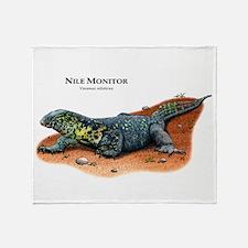 Nile Monitor Throw Blanket