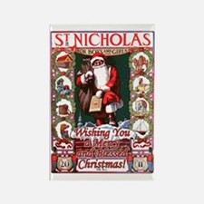 Cute St nicholas Rectangle Magnet