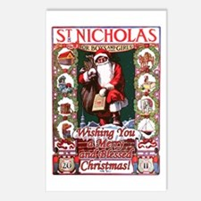 Cute St nicholas Postcards (Package of 8)