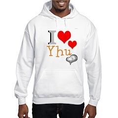OYOOS I Love Yhu Heart design Hoodie