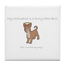 Devil Chihuahua Tile Coaster