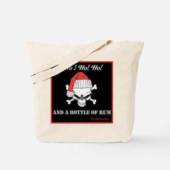 Christmas Pirate Skull Tote Bag