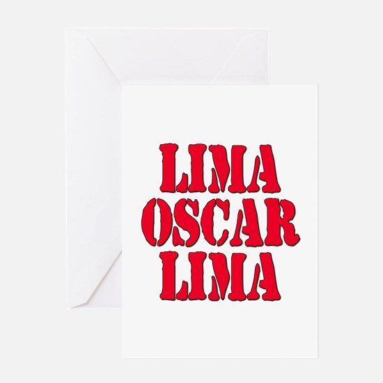 LOL Laughing Out Loud Lima Oscar Lima Greeting Car