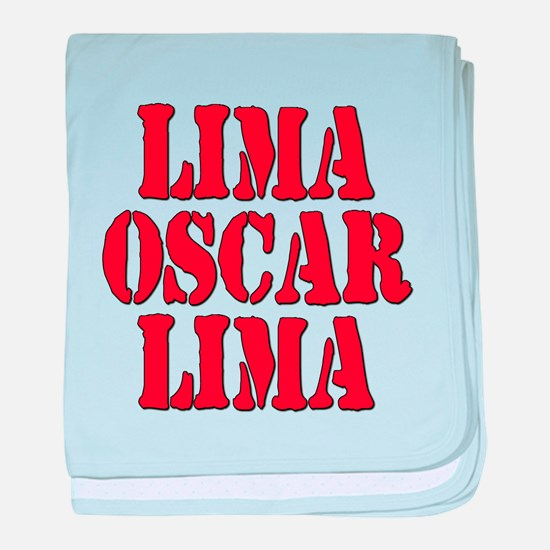 LOL Laughing Out Loud Lima Oscar Lima baby blanket