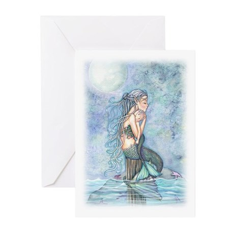 Mother and Baby Fairy Fa Greeting Cards (Pk of 10)