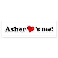 Asher Loves Me Bumper Bumper Sticker