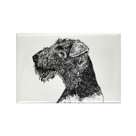 Terrier Dog Rectangle Magnet (100 pack)