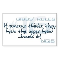 Gibbs' Rules #16 - Upper Hand... Rectangle Decal