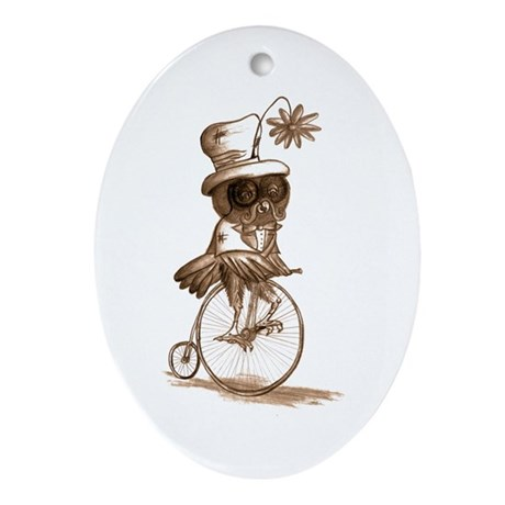 Sir Owlfred Ornament (Oval)
