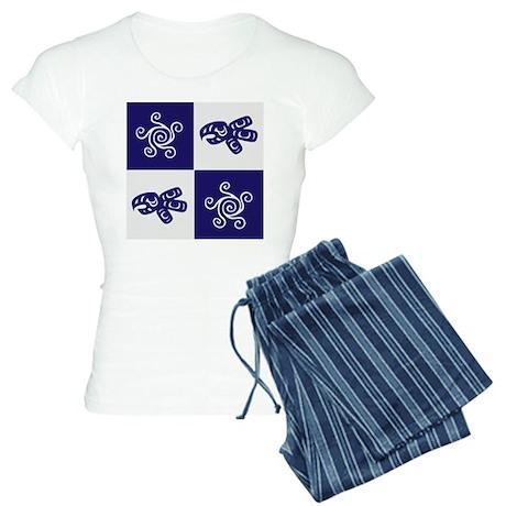 Star Totem (blue) Women's Light Pajamas