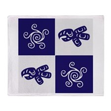 Star Totem (blue) Throw Blanket