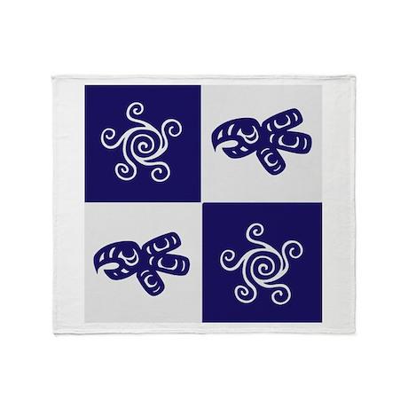 Star Totem (blue) Throw Blanket