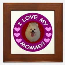 American Eskimo Dog Framed Tile