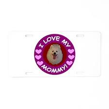 American Eskimo Dog Aluminum License Plate