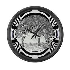 Zebra in print Large Wall Clock