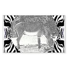 Zebra in print Decal