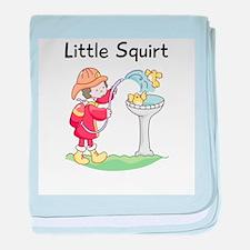 Little Squirt Fireman baby blanket