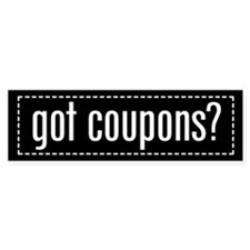 Got Coupons Bumper Sticker