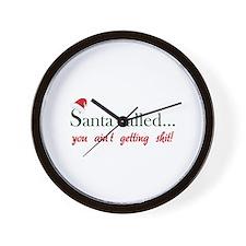 Santa called... Wall Clock