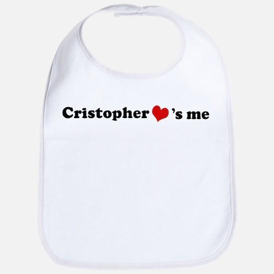 Cristopher Loves Me Bib