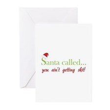 Santa called... Greeting Cards (Pk of 10)
