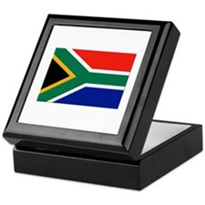 South Africa Flag Keepsake Box